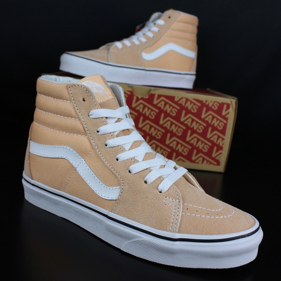 90b6c1b46c Vans Womens Bleached Apricot True White Sk8-Hi